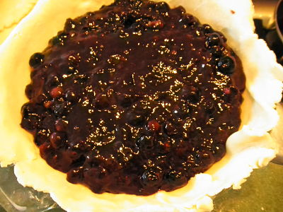 gluten free blueberry pie filling