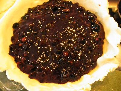 gluten free blueberry pie filling