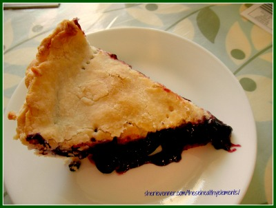 Fresh Summer Gluten Free Blueberry Pie