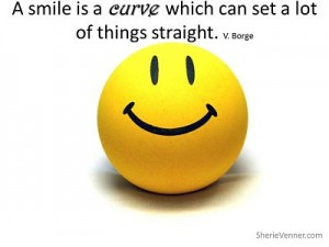 A smile is a curve which can set opt 300x225 Inspirational Picture Quotes
