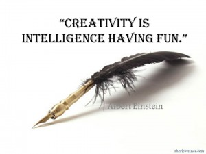 Creativity is intelligence having fun 300x225 Inspirational Picture Quotes