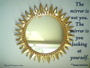 The mirror is not you opt 300x225 Inspirational Picture Quotes