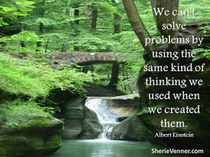 We can't solve problems by using the same