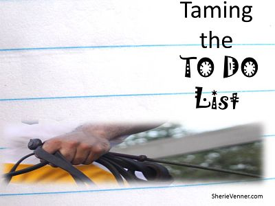 Taming the to do list opt What to Do with an Overwhelming To Do List