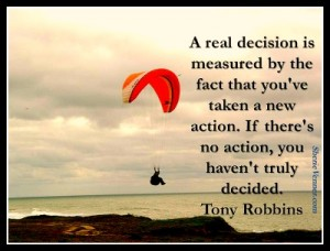 a real decision is measured by the fact