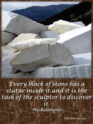 Every block of stone has a statue inside opt 1 If You are Feeling Broken...