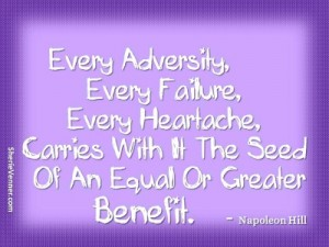 every adversity every failure carries