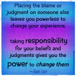 Placing the blame or judgement