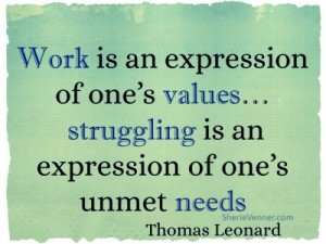 work is an expression of ones values