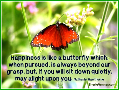 happiness is like a butterfly which Unrealistic Expectations of Happiness?