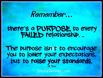 Theres a purpose to every failed relationship