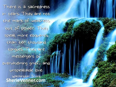 There is a sacredness in tears